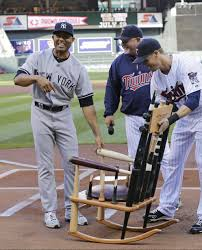The Twins Gave Mariano Rivera A Chair Made Of Broken Bats ... Recycled Rocking Chair Made From Seball Bats Ideas Bucket Seat Contemporary 43 Rocker Recliner In Brown Dollhouse Rocking Chair Miniature Wooden Fniture 1960s Triconfort Mid Century Recliner Rivera Pool Chair White Made In France Ardleigh Essex Gumtree Rivera Swivel Patio Ding Baseball Hall Of Fame Mariano Primed For Cooperstown Vintage Doll Tall Back Spindles Sedia A Dondolo Antica Faggio Curvato Tipo Thonet 1930 Yankees Honor Retiring Pregame Ceremony Cbs News Windsor Glider And Ottoman White With Gray Cushion Chalet Ski Teak Natural Elements