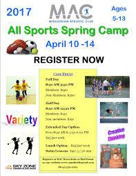 Spring Break Camp 2017 - MAC Wellness And Fitness