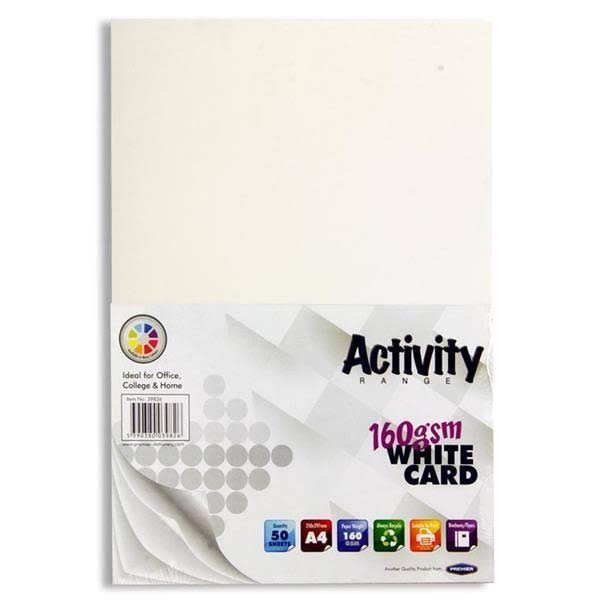 Premier White Card - A4, 50 Sheets