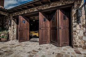 Extraordinary car spaces rustic with garage doors wood carriage
