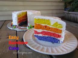 Easy Bright Rainbow Cake  Call Me PMc
