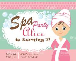 Spa Party Card Stock Vector Art 500580595