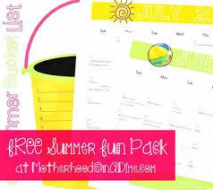 Free Printable Summer Fun For Kids Activity Calendar