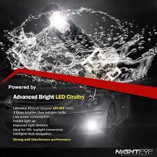 NIGHTEYE H3 LED Fog Light Bulbs Car Motor Lamp Replace Halogen 160W ...