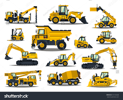 Big Set Construction Equipment Special Machines Stock Vector ...