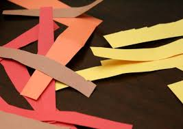 Paper Strips For Turkey Craft