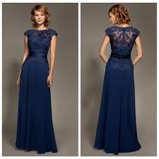 modest navy blue bridesmaid dress chiffon lace peplum sash bateau