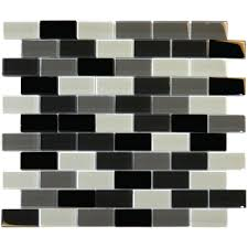 black blend 12 in x 12 in x 8 mm glass mesh mounted mosaic tile