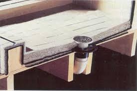 bathroom remodel shower drain installation tile shower shower pan