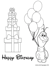 Olaf Holding Balloons Colouring Page Coloring Pages