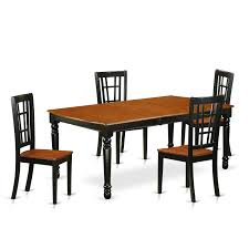 East West Furniture Dover DONI5 Five Piece Extension Dining ...