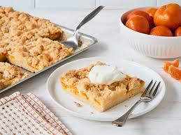 mandarinen streusel kuchen vom blech mit schmand