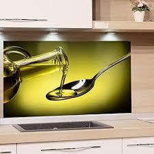 grazdesign spritzschutz glas für küche herd bild motiv grün olivenöl mediterran küchenrückwand glas küchenspiegel glasrückwand 80x60cm
