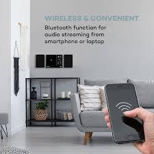 connect vertical internetradio 2x5 w rms cd ir ukw dab spotify bt schwarz schwarz