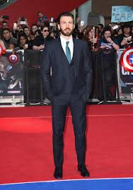 April 2016 Chris Evans Maintained A Sleek Look For The European Premiere Of Captain America