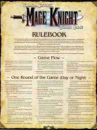 Image Result For Mage Knight Rules