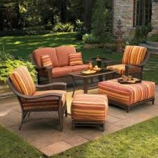 Agio Patio Furniture Cushions by Marilla Wicker Conversation Collection Replacement Cushions