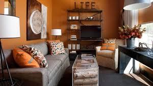 15 Close to Fruity Orange Living Room Designs
