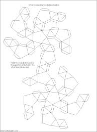 Paper Bowl Template Via Small Ditrigonal Icosidodecahedron Net