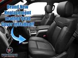 100 Ford Truck Replacement Seats 20102014 F150 RAPTOR SVT Perforated Leather Seat Cover