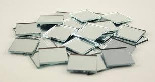 2x2cm small glass square craft mirrors bulk 100 pieces mosaic