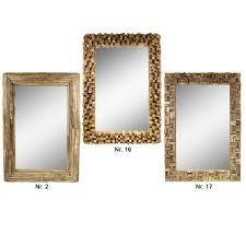 spiegel rahmen aus holzstücken thailand massiv holzrahmen wandspiegel holz spiegel ca 70 x 100 cm galerie