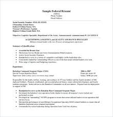 Government Resume Template Federal Templates Australian Example