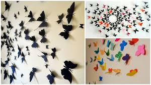 Diy Butterf Lovely How To Make A Butterfly Wall Decoration