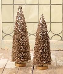 Elegant Bronze Bottle Brush Trees
