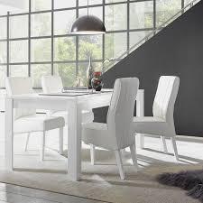 lc spa esstisch dama spanplatte rechteckig hochglanz weiß modern