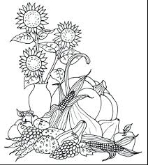 Fall Harvest Coloring Pages Free Kindergarten Printable Thanksgiving For Toddlers Sheets Full Size