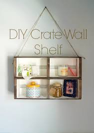 DIY Hanging Crate Wall Shelf An Easy No Build That Only Requires Craft Store Materials
