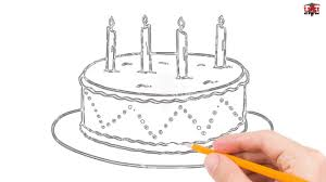 How to Draw a Cake Step by Step Easy for Beginners Kids – Simple Cakes Drawing Tutorial