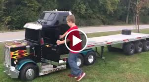 This Kids Mini SEMI Truck Is Seriously Badass! – Speed Society