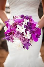 Orchid Wedding Bouquets In Brilliant Colors White BouquetsTropical