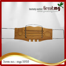 Bamboo Bathtub Caddy With Wine Glass Holder by Clean Healthy Living Bamboo Bathtub Caddy Tray With Reading Tray