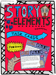 Story Elements Task Cards And Board Game