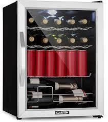 klarstein beersafe xl mix it minibar mini kühlschrank getränkekühlschrank leise 42 db edelstahl glastür 5 stufiger temperaturregler 4