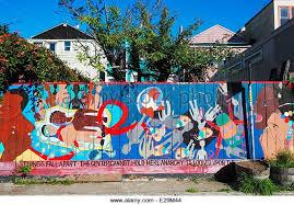 murals balmy alley mission district stock photos murals balmy