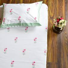 Jaipuri Kashmiri Embroidery Design Silk Double Bed Cover