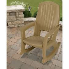 Taupe Outdoor Rocking Chair — 600 Lb Capacity
