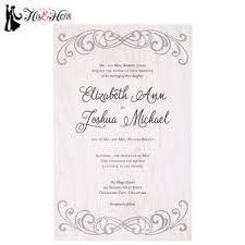 Gray Flourish Wedding Invitations
