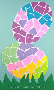 Construction Paper Mosaic Easter Eggs