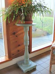 My Shabby Chateau Chalk Painted Pedestal Plant Stand