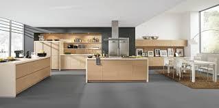 cuisine bois design cuisine design sans poignées en bois
