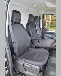 Ford Transit Custom EXTRA Heavy Duty Waterproof Black Seat Covers ...