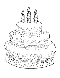Birthday Cake Coloring Page Printable 14 Happy Pages Free