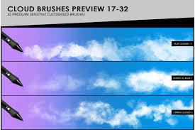 100 Flat Cloud S Fog Smoke Photoshop Brushes