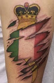 Italian Flag Tattoos Tattoo With Crown