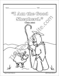 Jesus The Good Shepherd Coloring Sheet